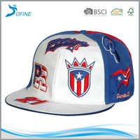 Factory OEM high quality promotional custom embroidery flat brim snapback cap