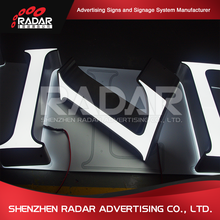 Outdoor hair salon LED lighting sign shop name letters aluminum letters