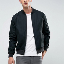 wholesale clothing factory based soft fitted black bomber jackets men winter