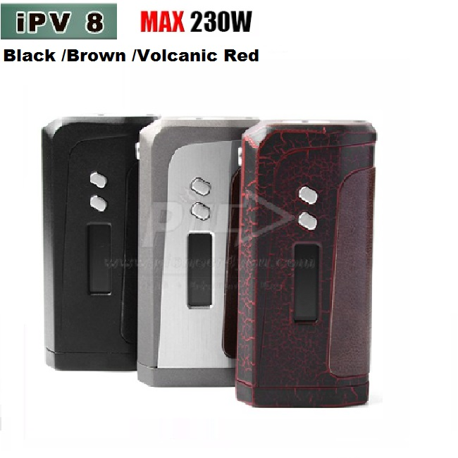 In stock 100% Authentic IPV8 230W TC BOX MOD dual batteries IPV 8 box mod smaller size with dermis