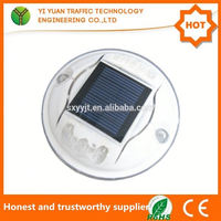 Chinese mainland IP68 reflector solar flashing led warning road side flash circle lighting on alibaba