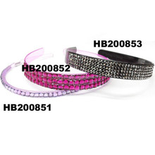 wholesale crystal plastic hair bands with teeth for women