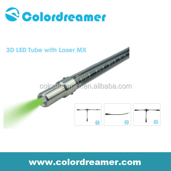 Green color dmx 3d laser tube professional supplier
