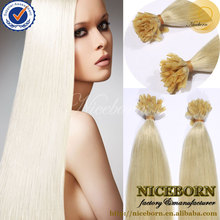 wholesale 5a brazilian remy hair 100% Virgin Pre Bonded U Tip Hair,STICK Tip Hair Extension