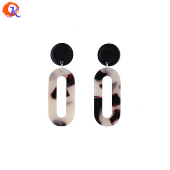 Trendy Brincos Earings Beautiful Fashion Hollow Out Geometry Oval Drop Earrings Acetic Acid Material For Women Elegant Design