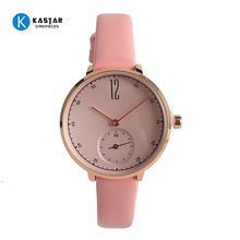 Custom Rose Gold Plated Domed Sapphire Crystal Glass Alloy Luxury watches Women