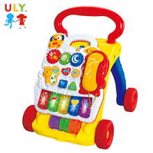 Musical imitation children's toys sit-to-stand plastic learning baby walker