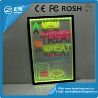 Promotional High transmit Acrylic Transparent hanging restaurant menu board