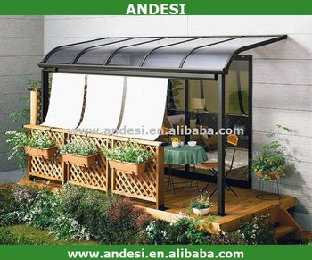 Aluminium canopy for balcony view canopy andesi product for Balcony canopy