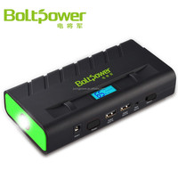 Boltpower D15 Multi-function car jump starter and portable external battery charger with adapters,jump cables,LED flashlight