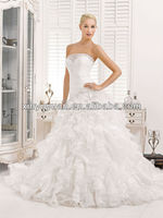 Popular Maternity Layered A-line Strapless Organza Wedding Dress Bridal Gowns XYY-k42-14