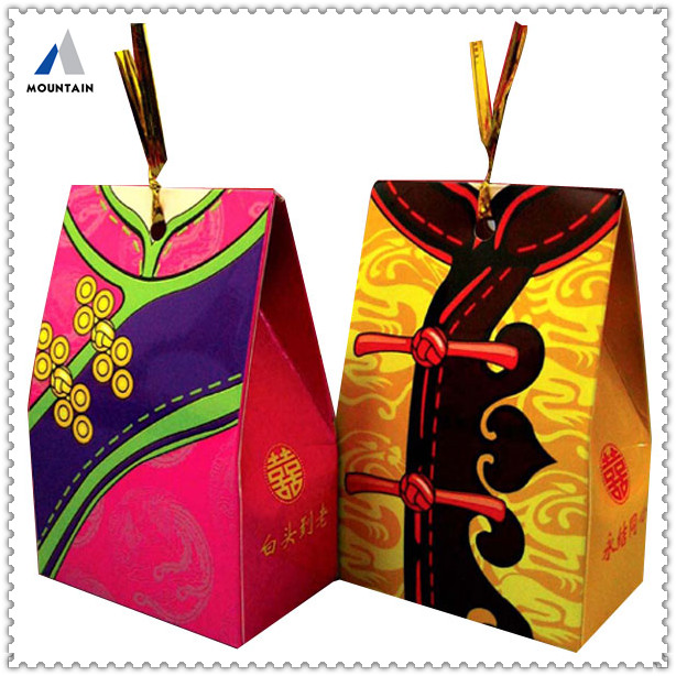 Mountain paper folding mini luxury bride and groom candy box wedding