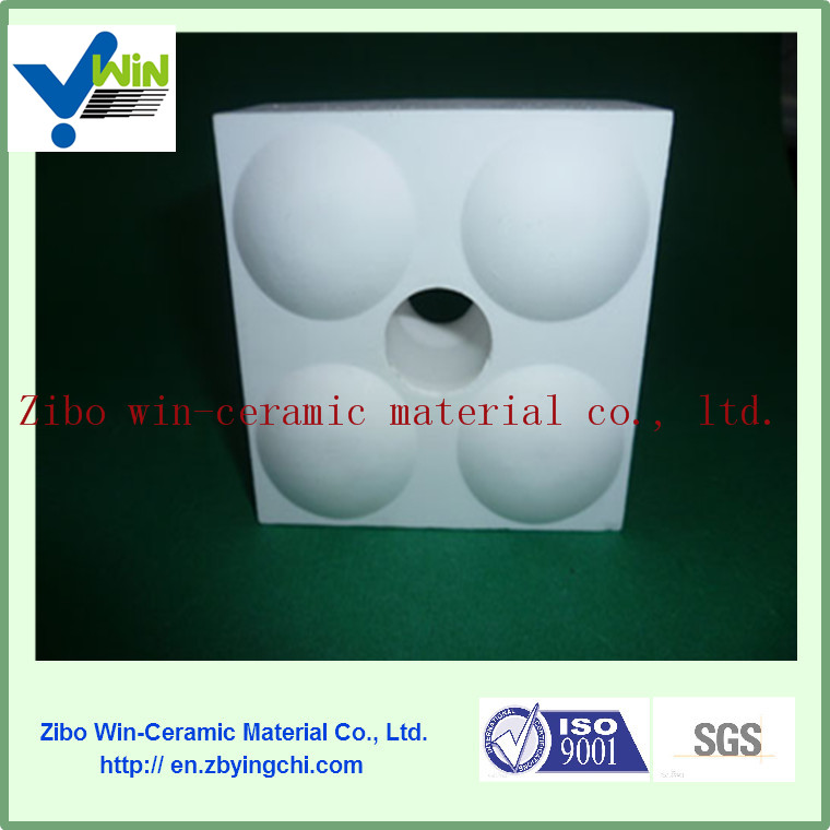High alumina dry pressing sticked low wear ceramic tile for pipe