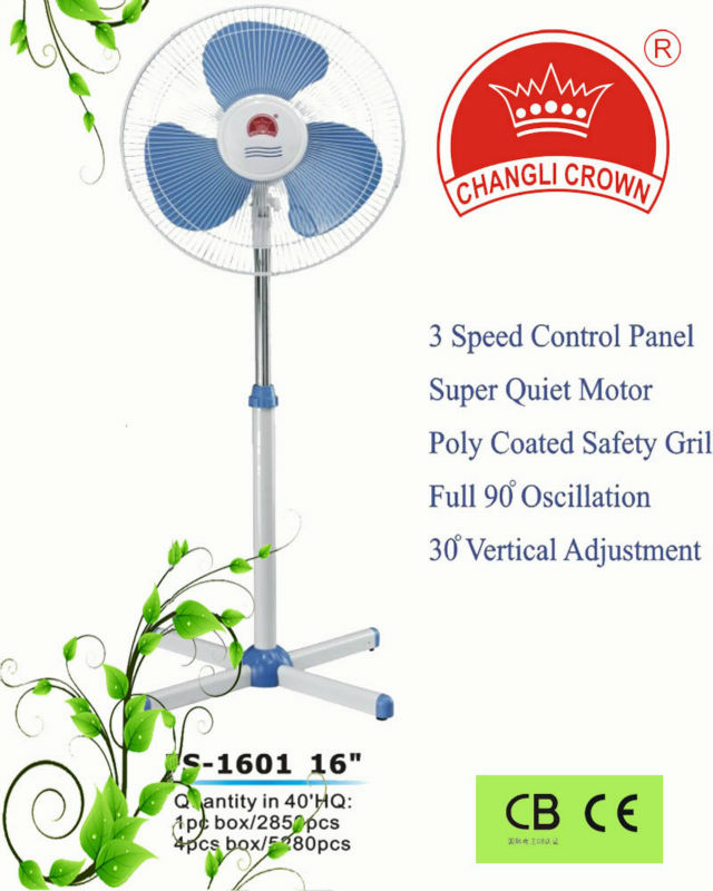 Standing fan with CE&CS