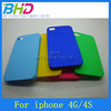 New Smooth Oil Coated Pure Color Hard Case for iphone 4G