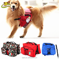 New Pet Dog Bag Backpack Saddle Harness Pack Travel Camping Dog Travel Backpack