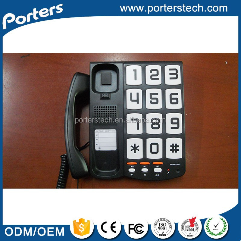 China Wholesale Custom Big button small phone, Desk and wall mountable small phone