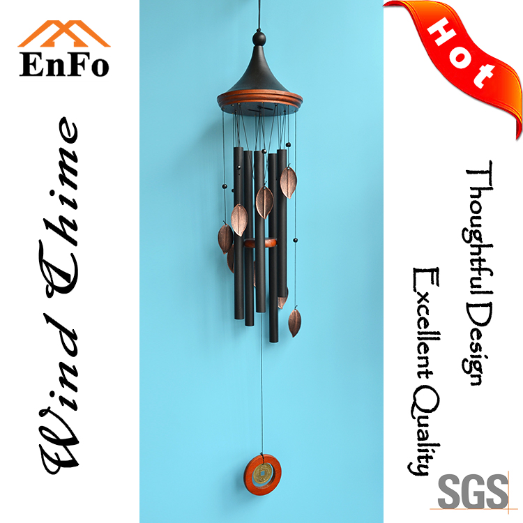 New design wholesale art craft mixed color wind chime