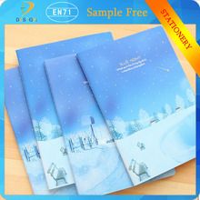 office school supplies 19x26cm lovely blue star night notebook exercise books random color