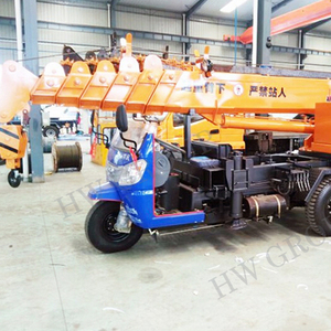 3 wheels mobile 3ton mini crane with small tricycle