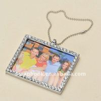 Rhinestone decorative mini hanging photo frames for small pictures