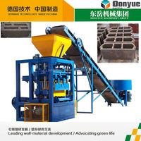 QT4-24 dongyue cement concrete hollow block maker / vibration press brick making machine