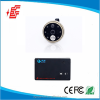 Factory selling 1.0Mega CMOS peephole viewer 120degree door peephole camera with recorder