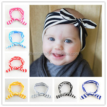 2016 new factory red white stripes directly wholesale thick baby hair bands handmade headband patterns