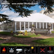 Big Aluminum Frame Dome wedding Tent for 1500 people banquet style seating made by shelter tent