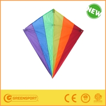 china promotional lovely diamond material polyester kite from manufactory