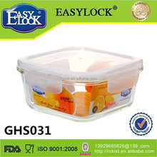 Easylock walmarts glass food storage container with four side lock