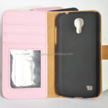 Mix Color For Samsung Galaxy S4 Mini i9190 PU Leather ID Card Pockets Hot Sale Wallet Case