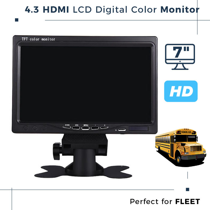 4.3 HDMI input Ultra Thin Car LCD Monitor Scaler Board Battery Powered LCD Monitor