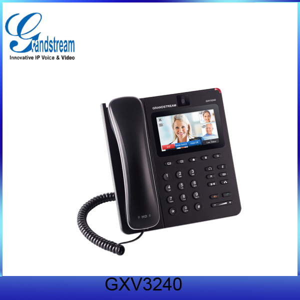 The GXV3240 Video IP Phone the functionality of an Android tablet to offer an all-in-one communications solution