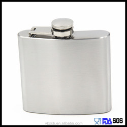 BPA free frosted surface standard size hip flask