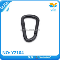 Wholesale bag accessories black zinc alloy safety key chain spring snap hook
