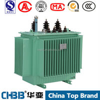 S9-M oil immersed 3 Phase 63kva power transformer of 11kv 400v