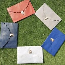 Wholesale Pu Envelope Clutch With Scalloped Edge