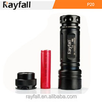 USB rechargeable strong light torch flashlight with 18650 or CR123 battery 6 modes
