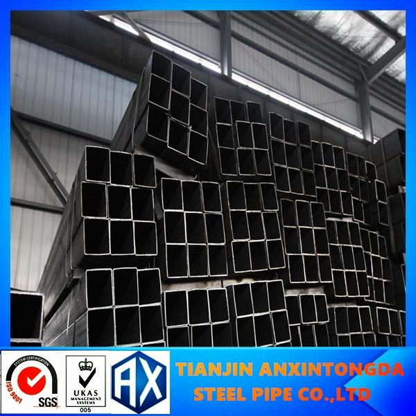 38*38mm black furniture square tube!ms square tube price list