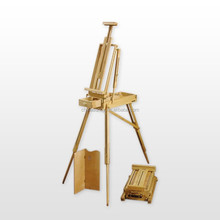 Big desk easel with box /brush box easel/table easel for artist