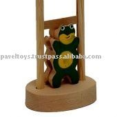 wooden toys -- Frog with ladder