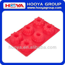 6-HOLE PUMPKIN SHAPE SILICONE CAKE BAKING MOLD