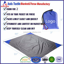 Best European and American outdoor camping beach mat ultra light double waterproof nylon pocket blanket