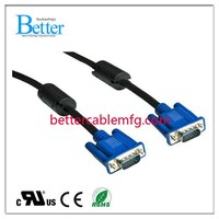 New style classical vga cable triplex braid shielded