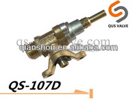 QS 107D faston terminal brass gas cock valve for gas assemble stove oven
