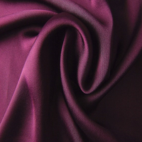 Stretch plain woven 100% polyester satin cloth material fabric for garment