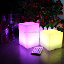 Plastic glow furniture led lamp for house dekorasyon