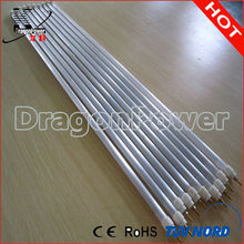 Quartz tube heating element
