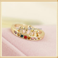 Delicacy gold king and queen ring jewelry with the enamel princess ring